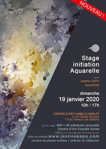 stage aquarelle JEANNE PAPA seine et marne_fontainebleau_moret_MLO_77_ idée cadeau de noel