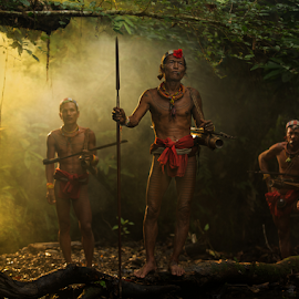 Hunting Time by Henry Kurniawan - People Portraits of Men ( environment, indonesia, tribe, mentawai, portraits )