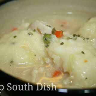 Old Fashioned Chicken and Drop Dumplings.