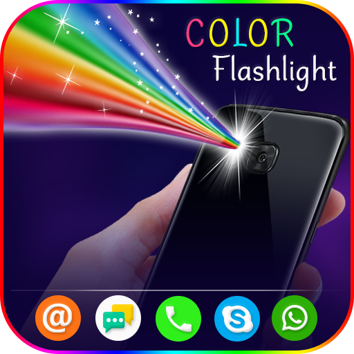 Color Flashlight : Torch LED Flash On Call & SMS