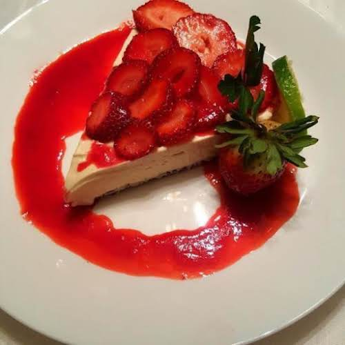 "Strawberry Lime Cheesecake Tart ""It's a very simple recipe. And no baking..."