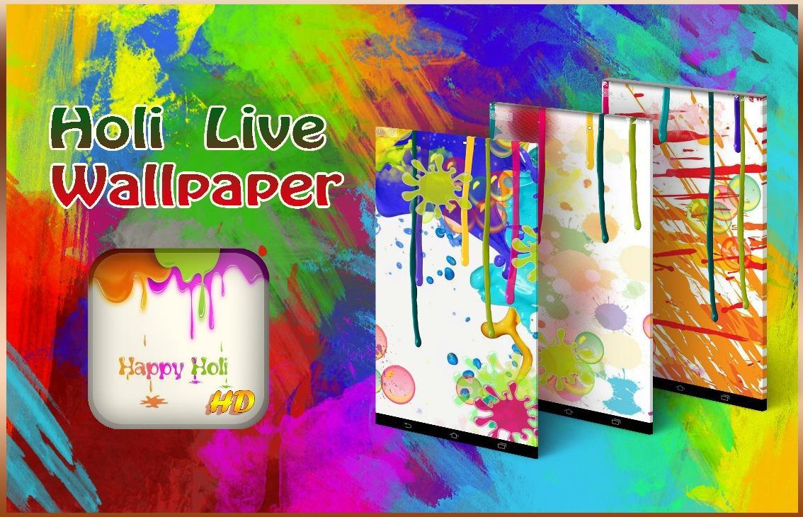 Hd wallpaper app - Holi Live Wallpaper Screenshot