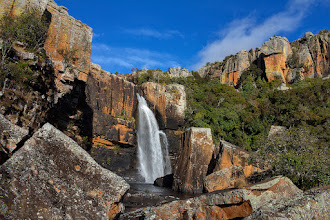 """Photo: """"Blydepoort Falls"""" - Blyde River Hiking Trail, Mpumalanga, South Africa  Here's a late entry for #waterfallwednesday (by +Eric Leslie) and for #widewednesdaypanorama (+WideWednesdayPanorama by +Ken McMahon, +Lucille Galleli and +Andrew Marston). I would also like to submit it as an early entry for #thirstythursdaypics ( #thirstythursday by +Giuseppe Basile and +Mark Esguerra). Lastly, as always, for consideration in #plusphotoextract by +Jarek Klimek.  This was taken last year on a hike down the Blyde River towards the Blyde River Canyon in Mpumalanga, South Africa.  I need to hike more...but to find the time between family, work, and my wildlife photography travels...who knows?  #landscapephotography   www.morkelerasmus.com www.saffascapes.blogspot.com"""