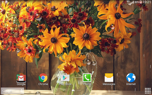 Осенние Цветы - Живые Обои скачать на планшет Андроид