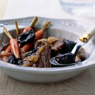 Beef Cooked with Carrots, Onions, and Dried Plums
