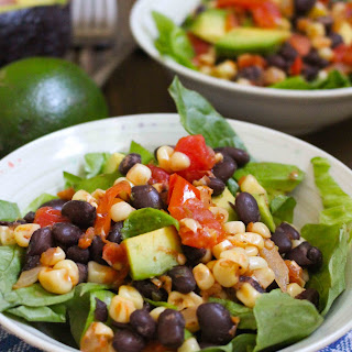 Roasted Corn, Tomato, & Black Bean Salad with Avocado