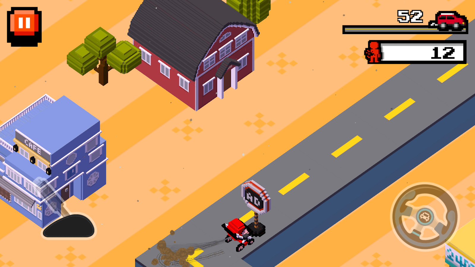Crush Road(Road Fighter)- screenshot