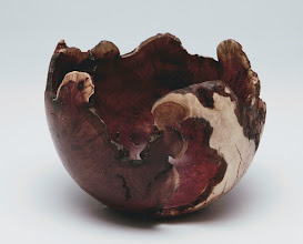 "Photo: Tim Aley 4"" x 4"" natural edge bowl [manzanita root burl]"