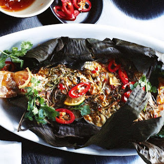 Asian-style Fish Baked In A Banana Leaf