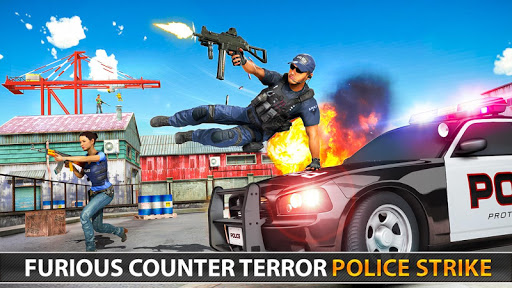 Police Counter Terrorist Shooting - FPS Strike War apkpoly screenshots 24