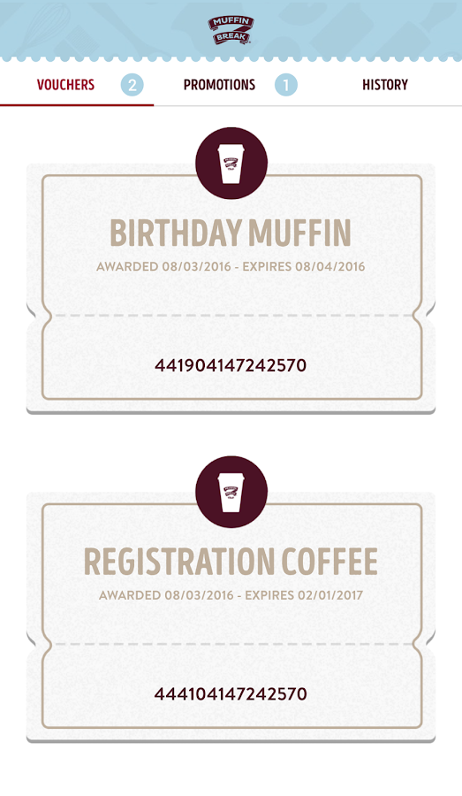 Muffin Break Rewards Australia- screenshot