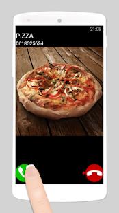 falešný hovor pizza - náhled