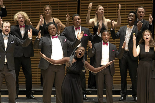 Standing ovation: The Cape Town Youth Choir performed in Carnegie Hall during a tour of the US in April. Picture: RICHARD TERMINE