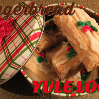 Gingerbread Yule Log Cookies