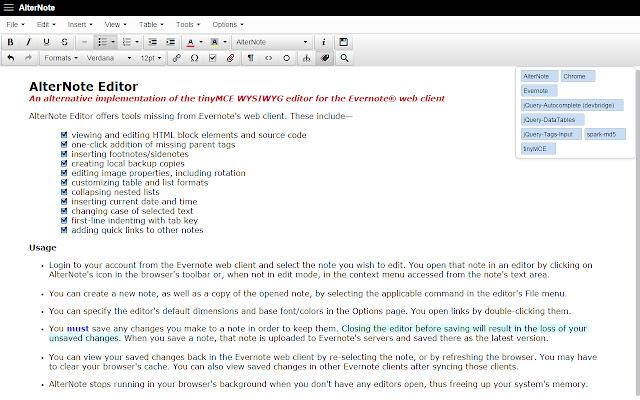 AlterNote Editor