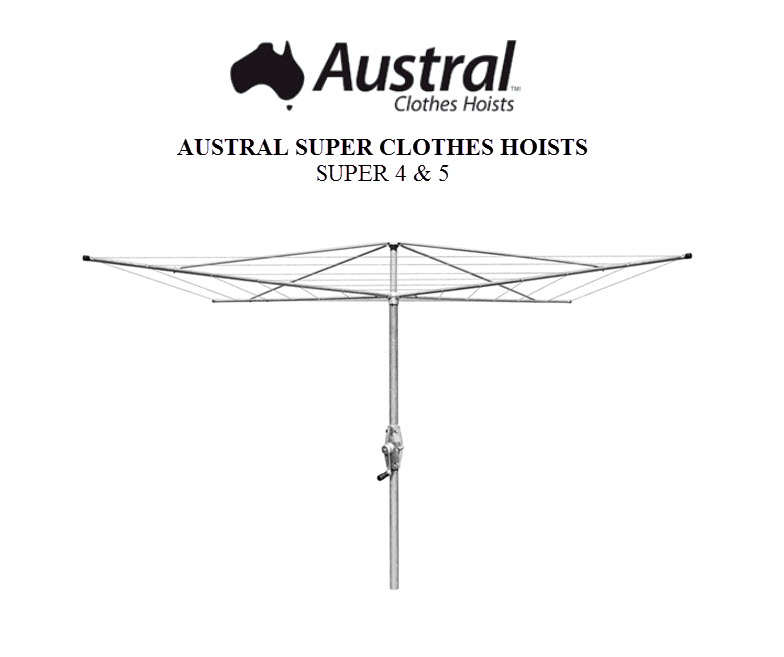 Austral Super 4 Rotary Clothes Hoist Owners Manual SUPER4