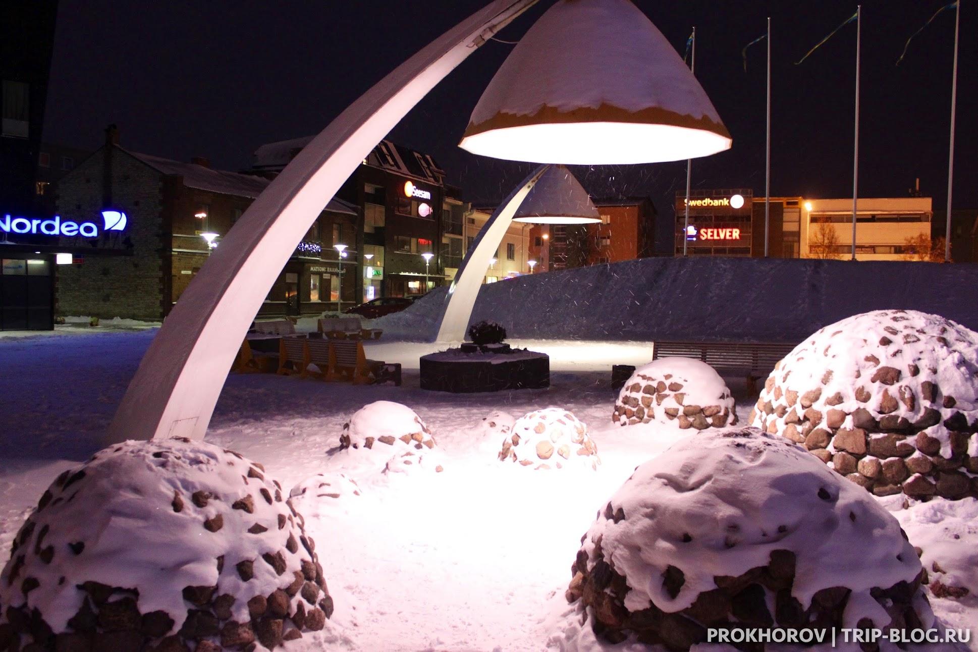 Освещение на рыночной площади Turu plats