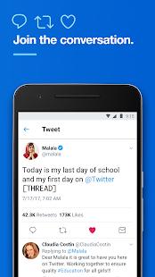 Twitter - náhled