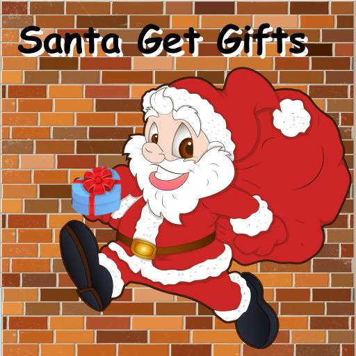 动作のサンタがクリスマスギフトをゲット LOGO-記事Game
