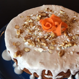 Paleo Carrot Cake with Coconut Frosting