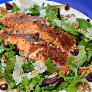 Blackened Salmon Salad Kicked Up