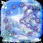 Winter Clock 20  live wallpaper