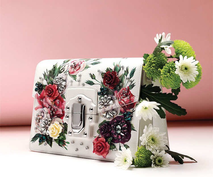 Lucia peony-print shoulder bag, R58,000, Dolce & Gabbana