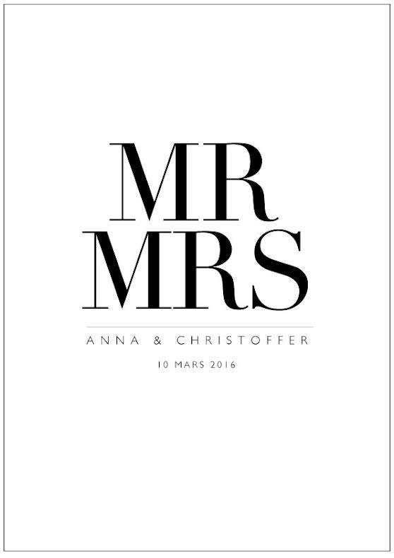MARRIAGE bröllopstavla/bröllopsposter