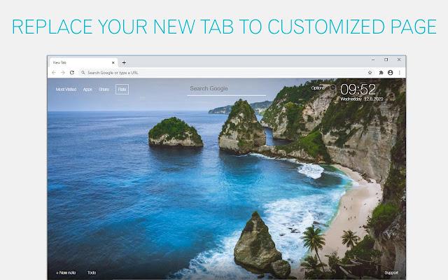 Bali Wallpaper Island New Tab - freeaddon.com