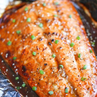 Asian Salmon in Foil.