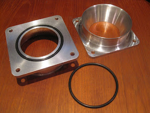 Photo: Finished Intake Flanges.  Buna-N #232 o-ring on the face.