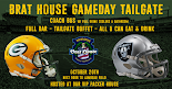 Packers vs  Raiders  10/20/19 Lambeau Field VIP Tailgate Party + Coach Bus