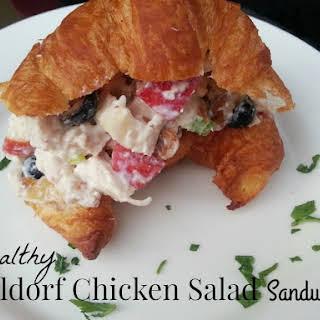 Healthy Waldorf Chicken Salad Sandwich.