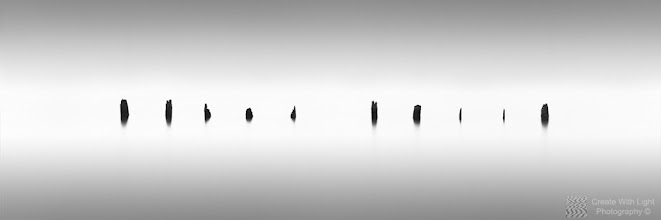 """Photo: """"Ten"""" - http://www.createwithlightphotography.com  Please view LARGE here: http://tinyurl.com/c838no8  This is a 95 second exposure of old pilings in the Strait of Georgia in Vancouver.  I used a 10 and a 3 stop ND filter, and stacked a 3 stop soft grad ND filter, to get the right level of contrast in the the water, around the pilings.  This is the first image in my new series of numbered pilings.  The clouds and light were perfect that day and created a layer of light around the pilings around high tide.  This is my contribution to the #LongExposureThursday theme, kindly curated by +Francesco Gola and +Le Quoc , the #ThirstyThursday theme, kindly curated by +Giuseppe Basile and +Mark Esguerra , the #FineArtPls theme, curated by the lovely +Marina Chen and +Fineao Fang , the #BWFineArtLE theme, curated by the amazing Mr +Joel Tjintjelaar and +Black and White Fine Art Photography Gallery , #RectanglesAreSexy curated by the spectacular +Athena Carey , my awesome muse and supporter +dene' miles and finally the #PlusPhotoExtract theme, run by the awesome +Jarek Klimek   All thoughts and comments welcome.  Please visit my website to view more of my images: http://www.createwithlightphotography.com  #PlusPhotoExtract #GrantMurray #CreateWithLightPhotography #BWFineArtLE #FineArtPls"""