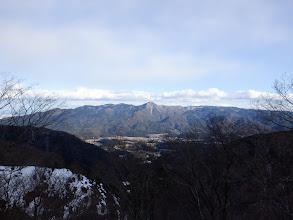 養老山地(中央が笙ヶ岳)