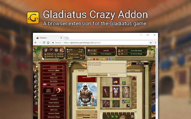 Gladiatus Crazy Add On