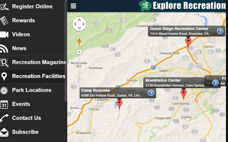 android Roanoke County Parks Screenshot 2