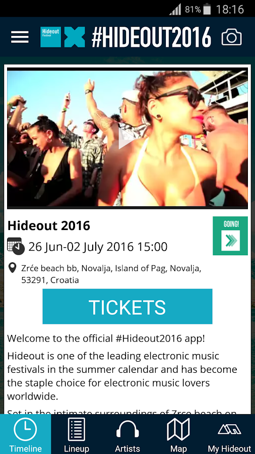Hideout Festival- screenshot
