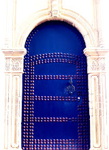 Photo: Luxury hotels in the Kasbah with beautiful doors.  Tangier.