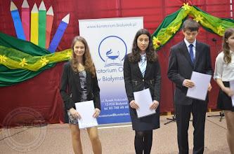 Photo: Laureaci Wojewódzkich Konkursów Przedmiotowych 2014 - A. Puchalska 3d (pierwsza z lewej)