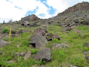Photo: Climbing to the summit ridge