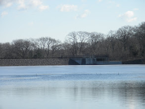Photo: Dam at Quincy Reservoir, taken from Verizon office park near old Circuit City