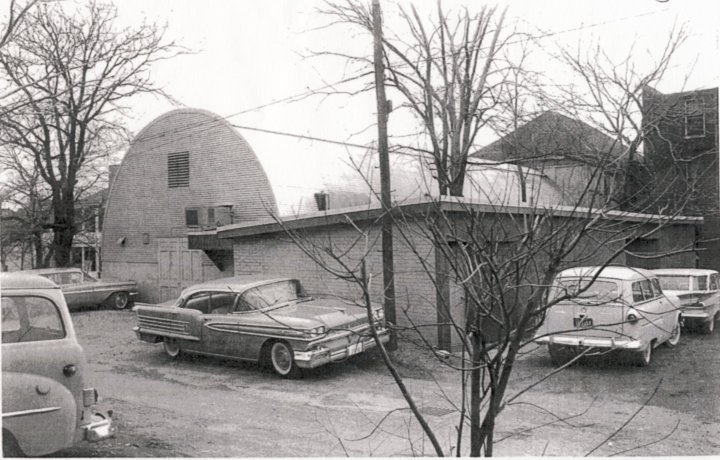 The original Quonset Hut with the house attached to the back.