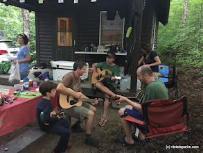 Photo: Some people gathering at Ricker Pond State Park to play some music
