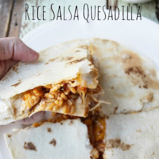 Rice Salsa Quesadilla With Chicken