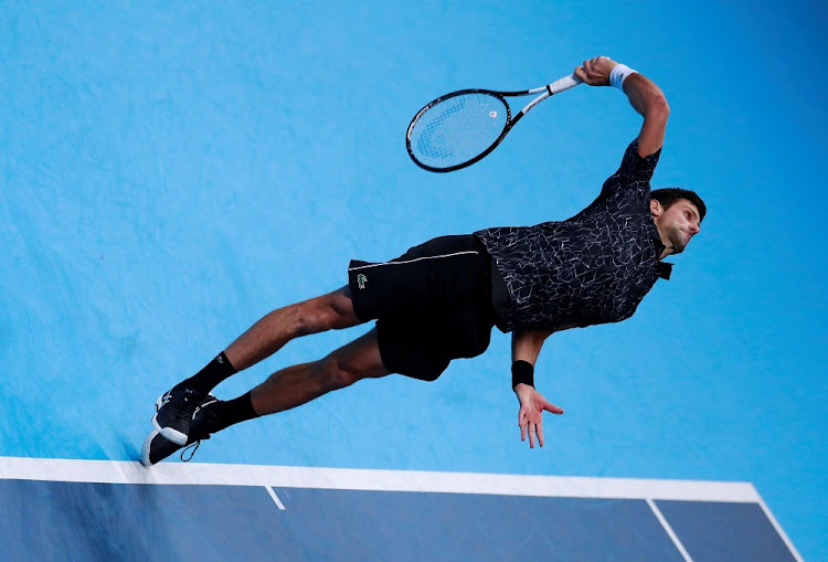 Serbia's Novak Djokovic in action during his match against Germany's Alexander Zverev at the ATP finals in London, Britain, November 14 2018. Picture: REUTERS/ANDREW COULDRIDGE