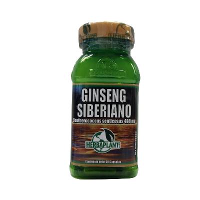 ginseng siberiano 408mg 60capsulas herbaplant