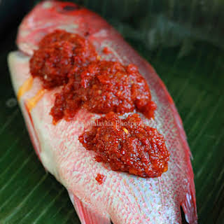 Grilled Fish with Banana Leaf.