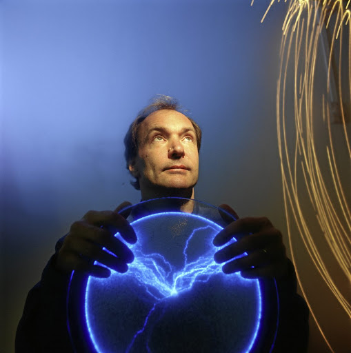 Sir Tim Berners-Lee, British physicist turned programmer, and inventor of the World Wide Web.