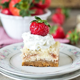 Strawberry Shortcake Cheesecake Bars Recipe